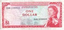 Iles des Caraïbes 1 Dollar Elisabeth II - Plage, cocotier - 1965  - B39