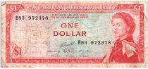 Iles des Caraïbes 1 Dollar Elisabeth II - Plage, cocotier - 1965  - B83