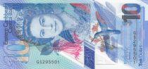 Iles des Caraïbes 10 Dollars Elisabeth II - Polymer - 2019 - Neuf