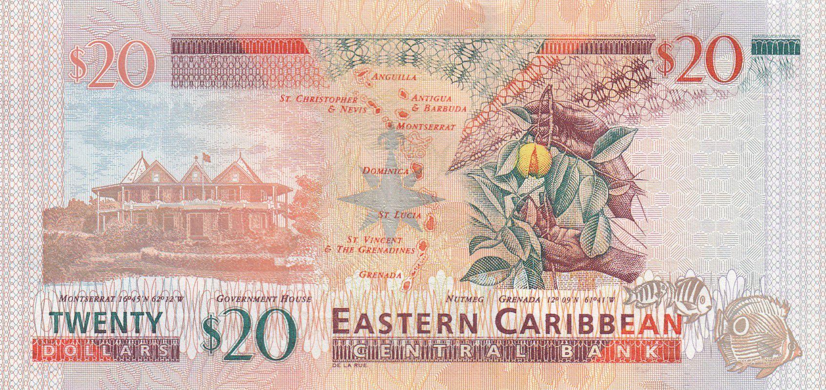 Iles des Caraïbes 20 Dollars Elisabeth II - 2015 - P.53b - Neuf