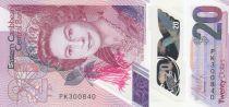 Iles des Caraïbes 20 Dollars Elisabeth II - Polymer - 2019 - Neuf