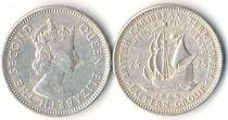 Iles des Caraïbes 25 Cents - Voilier - 1965