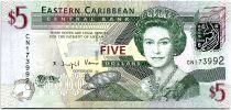 Iles des Caraïbes 5 Dollars Elizabeth II - Amirauté - Saint Vincent - 2008 - Neuf - P.47