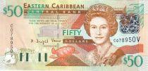 Iles des Caraïbes 50 Dollars Elisabeth II - Fort de Brimstone Hill