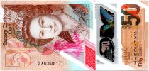 Iles des Caraïbes 50 Dollars Elisabeth II - Polymer - 2019 - Neuf