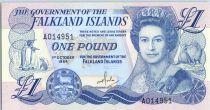 Iles Falkland 1 Pound , Elisabeth II - Village- 1984