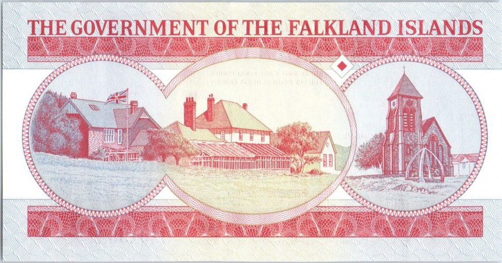 Iles Falkland 5 Pounds Elisabeth II, pingouins - Village - 2005