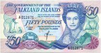 Iles Falkland P.16 50 Pounds, Elisabeth II - Village- 1990