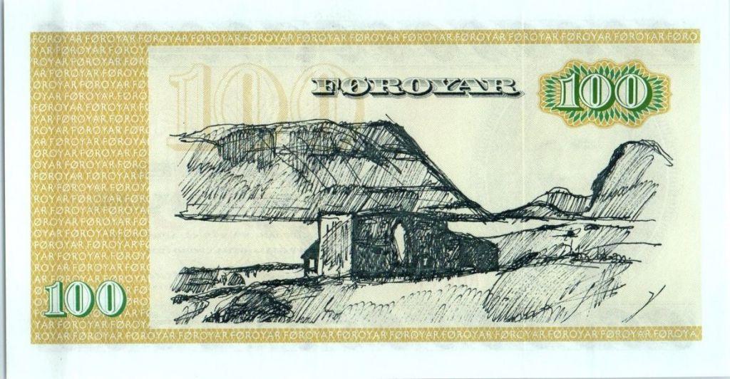 Iles Féroé 100 Kronur V.U. Hammershaimb - Maisons et montagne - 1994