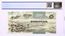 Iles Féroé 500 Kronur, Crabe - Vue de Hvannasundi - 2011 - PCGS 67 OPQ