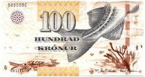 Iles Féroé P.30 100 Kronur, Poisson - Vue de Klaksvik - 2011