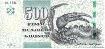 Iles Féroé P.32 500 Kronur, Crabe - Vue de Hvannasundi - 2011