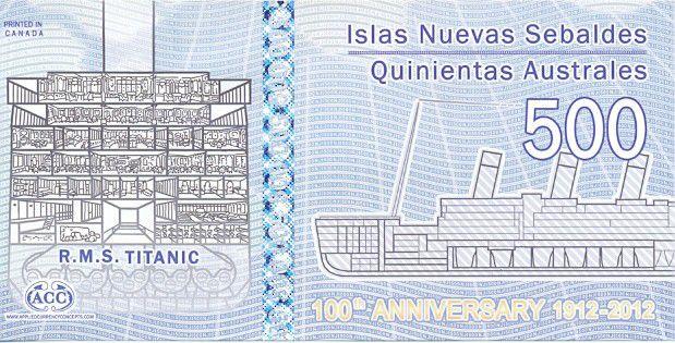 Iles Jason 500 Australes, Titanic (1912-2012) - 2012