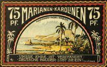 Iles Mariannes du Nord 75 Pfennig, Marianen-Karolinen - notgeld 1922 - NEUF
