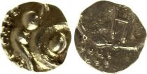 Inde 1 Fanam Maratha  - Or - 1674?1818