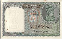 Inde 1 Rupee, Colonne aux Lions - 1949-51 - P.71 b