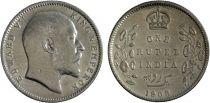 Inde 1 Rupee Edouard VII Roi et Empereur - 1905