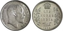 Inde 1 Rupee Edouard VII Roi et Empereur