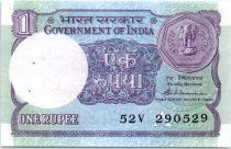 Inde 1 Rupee Plateforme pétrolière - 1989