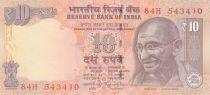 Inde 10 Rupees - Mahatma Gandhi - Animaux 2014 - Neuf