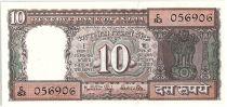 Inde 10 Rupees, Colonne aux Lions - Boutre - 19(84-85)  - P.60 i