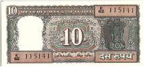 Inde 10 Rupees, Colonne aux Lions - Ghandi - 19(69-70) - P.69 b