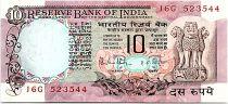 Inde 10 Rupees 1970-1990 - SPL - Serial J6G - P.81
