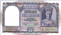 Inde 10 Rupees George V - Bateau - 1943
