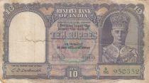 Inde 10 Rupees George VI - Bateau - 1943 Série B56 - TB - P.24
