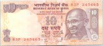 Inde 10 Rupees Mahatma Gandhi - Animaux