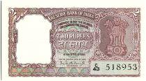 Inde 2 Rupees, Colonne aux Lions - Tigre - 1962-67  - P.30