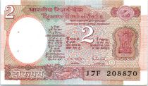 Inde 2 Rupees Satellite - 1985