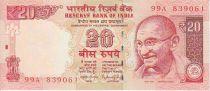 Inde 20 Rupees Mahatma Gandhi - Plage