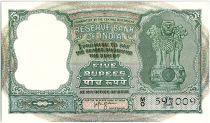 Inde 5 Rupees, Colonne aux Lions - Antilopes - 19(57-62)  - P.35b