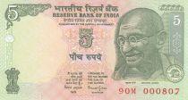 Inde 5 Rupees ND2002 - Gandhi