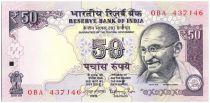 Inde 50 Rupees Mahatma Gandhi - Parlement - 2014