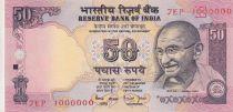 Inde 50 Rupees ND1997 - Gandhi - Série E - Numéro 1000000