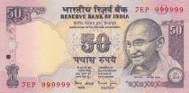 Inde 50 Rupees ND1997 - Gandhi - Série E - Numéro 999999