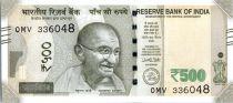 Inde 500 Rupees, Mahatma Gandhi - Red Fort 2017 Série OMV