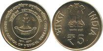 Inde NEW.2011 5 Rupees, 100 ans de la Recherche Medical Indienne