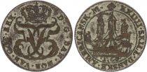 Indes Danoises 24 Skilling Bateaux, Armoiries - 1764