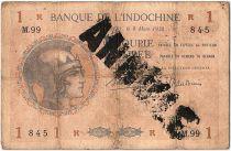 Indes Françaises 1 Roupie Femme casquée - 1938