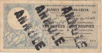 Indes Françaises 10 Rupees - 10 Roupies - 10 Roupies, Neptune - 1919 Série S.5 Annulé