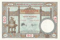 Indes Françaises 50 Roupies Duplex - ND (1936) - Spécimen O.0