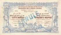 Indes Françaises 50 Rupees Pondichéry - 17-06-1915 - Série O.3 Annulé - TTB