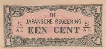 Indes Néerlandaises 1 Cent - Vert et rose - 1942