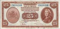 Indes Néerlandaises 25 Roepiah 1943 Reine Wilhelmina