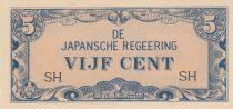 Indes Néerlandaises 5 Cents Occupation japonaise ND1942 WWII