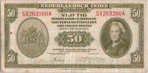 Indes Néerlandaises 50 Gulden 1943 Reine Wilhelmina
