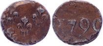 India 1 Biche - Pondichery - 1790 - VF